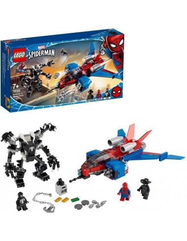LEGO AVENGERS SPIDERJET VS MECH VENOM