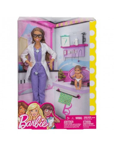 BARBIE CARRIERE PEDIATRA+BEBE'