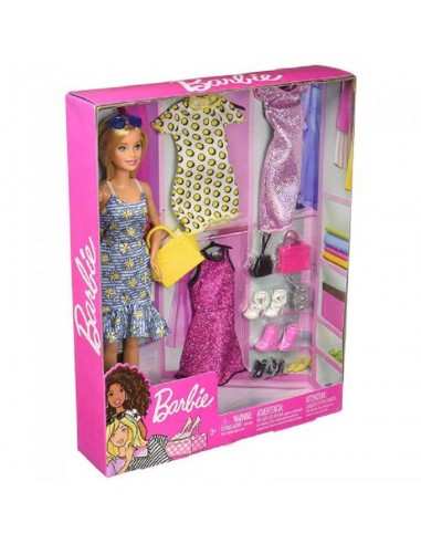 BARBIE FASHION CON 3 VESTITI E SCARPE