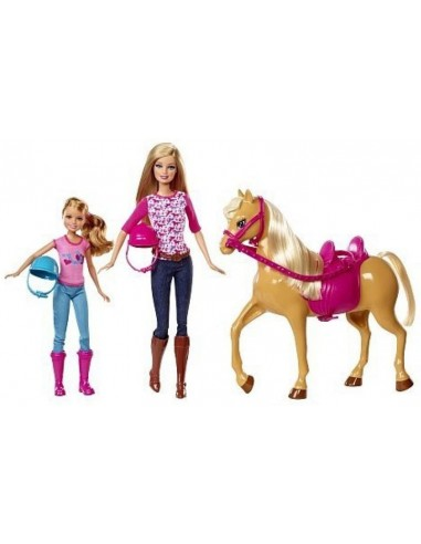 BARBIE E SHELLY CON CAVALLO