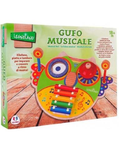 GLOBO GUFO MUSICALE LEGNO XILOFONO...