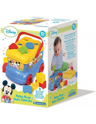 BABY CLEMENTONI MICKEY BUS FORME E COLOR