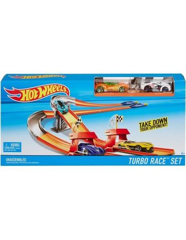 HOT WHEELS PISTA TURBO RACE CON 2 AUTO