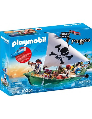 PLAYMOBIL PIRATES  NAVE PIRATA CON...