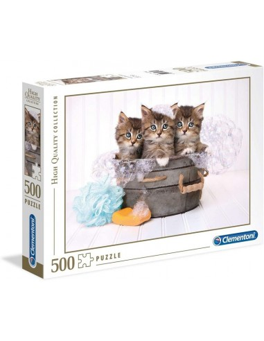 PUZZLE 500 CLEMENTONI KITTENS AND SOAP