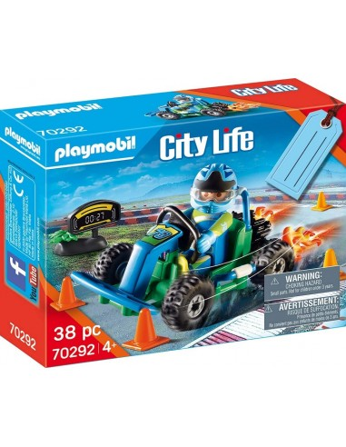 PLAYMOBIL CITY ACTION GIFT SET GO KART