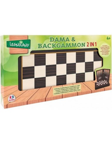 GLOBO DAMA & BACKGAMMON 45X45